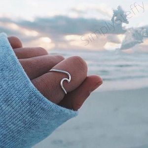 🌹NEW Sterling Silver Wave Ring